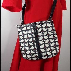 Relic zip-top swan print crossbody Caraway  bag